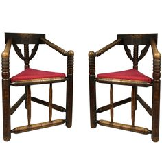 Pair Oak Turner Chairs