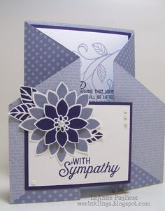 wee inklings: Eggplant and Wisteria Sympathy Fun Fold