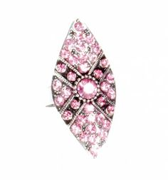 Pierścionek Vintage z Różowymi Kryształkami #ring #vintage