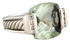 David Yurman Sterling Silver Art Deco Prasiolite and Diamond Ring (Size 6.5). Get the lowest price on David Yurman Sterling Silver Art Deco Prasiolite and Diamond Ring (Size 6.5) and other fabulous designer clothing and accessories! Shop Tradesy now