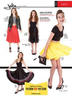 3457 - Circle Skirt PDF Pattern