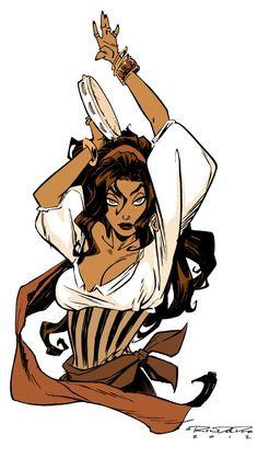 """Esmeralda of The Hunchback of Notre Dame by Khary Randolph for """"Women of Disney"""" week"""