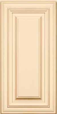 Vanderbilt Square (AA1M1) Maple in Biscotti w/Cocoa Glaze - Wall     --> this style cabinet, but in Dove White