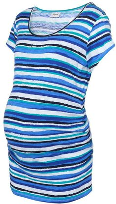 'Clementine' Maternity Print Stripe Tee