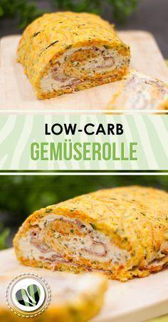 Die Gemüserolle mit Kräuterquarkfüllung ist ein Low-Carb-Gericht das kalt und warm genossen werden kann. Zudem ist es glutenfrei.