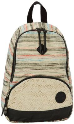 $41 Amazon.com: Roxy Juniors Wild Outdoors All Over Printed Casual Shoulder Bag, Black, One Size: Clothing