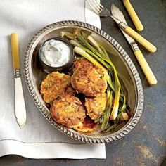Back in the day, salmon croquettes usually meant rich bindings and fillers (eggs, flour, cracker crumbs) to hold them together. And they were typically fried in an inch of bacon grease. In my house, the binder is egg only, and the patties are pan-seared in a little olive oil.