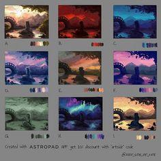 @art_side_of_life Digital Painting Tutorials, Digital Art Tutorial, Art Tutorials, Concept Art Tutorial, Color Studies, Art Studies, Claude Monet, Cassandra Calin, Art Sketches