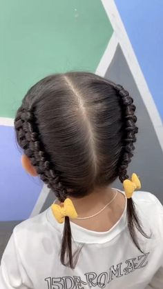 Cute Toddler Hairstyles, Lil Girl Hairstyles, Cute Hairstyles For Medium Hair, Hairstyles For Children, Short Hair For Kids, Braids For Long Hair, Hair Style Vedio, Hair Upstyles, Long Hair Video