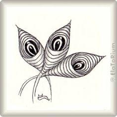 Zentangle-Pattern 'EEBs' by Judy Murphy, presented by www.musterquelle.de