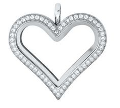 Origami Owl ~ NEW for Valentine's Day  2014 ~ Heart Locket with Crystals $44 item# LK1020  order yours at: www.melissamccullough.origamiowl.com