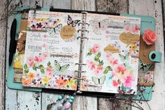 Creative pages by amaryllis775: Filofaxing / Flowers and butterflies
