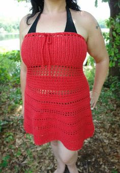 A simple summer dress that almost requires no counting.   This pattern is a recipe, it requires basic knowledge of crochet.
