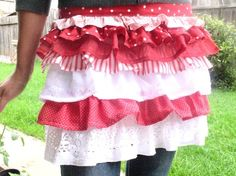 the perfect hostess apron in candy cane by NostalgiaAtHighTea, $38.50