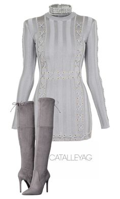 Untitled #975 by vladacatalleyag on Polyvore featuring polyvore, fashion, style, Balmain, GUESS and clothing