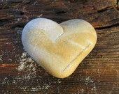 Heart Rock on wood. c.
