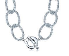 Tiffany  Co Outlet Necklaces Transparent Diamond Chain Circle B