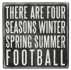 Amazon.com: Primitives by Kathy There are Four Seasons Football: Home & Kitchen