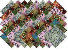 "BATIK VARIETY #19 COLLECTION 40 Precut 5"" QUILTING FABRIC SQUARES #MDG"