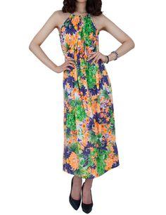 PorStyle Women Vivid Flower Halter Long Dresses $34.99 http://porstyle.com/  http://www.amazon.com/PorStyle-Women-Flower-Halter-Dresses/dp/B00E53MEGQ/ref=sr_1_20?s=apparel=UTF8=1375064626=1-20=porstyle