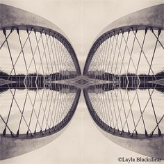 Abstract Bridge - Black and White Photograph by PictureBook on Etsy #abstract #photography #blackandwhite #double #bridge #etsy