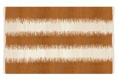 9'x12' Uma Flat-Weave Rug, Orange