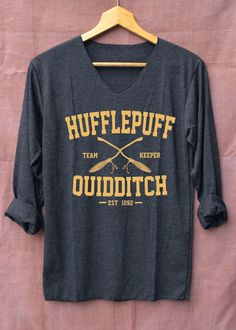New Hufflepuff Quidditch Harry Potter Shirts Black Long Sleeve Unisex Adults Size S M L XL Harry Potter Quidditch, Harry Potter Shirts, Harry Potter Outfits, Harry Potter Love, Harry Potter Fandom, Harry Potter World, Harry Potter Clothing, Hufflepuff Pride, Teen Fashion