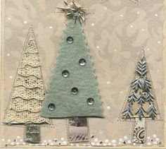 the adventures of bluegirlxo: winter frost Christmas Card Crafts, Christmas Fabric, Xmas Cards, Holiday Crafts, Vintage Christmas, Christmas Stockings, Christmas Decorations, Christmas Ornaments, Christmas Ideas
