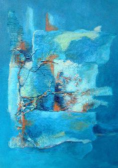 "Acryl materie ""Sea"" Jolanda van Hattum"