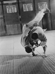 Judo Practice in Japan Fotoprint