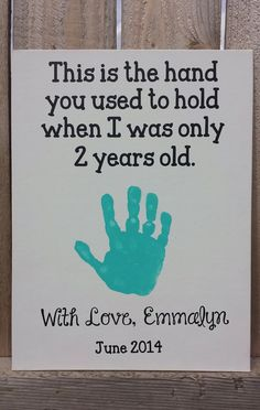 Emmalyns Handprint Craft 2 Years Old June 2014 Fathers Day Daddys Birthday Mothers