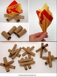 Como fazer fogueiras de papel para festa junina