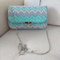 Plastic Canvas Stitches, Plastic Canvas Crafts, Plastic Canvas Patterns, Diy Bags Purses, Diy Purse, Crochet Bag Tutorials, Diy Crochet, Diy Bag Handles, Diy Bags Tutorial