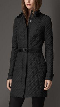 Buckle Detail Quilted Jacket - Lyst