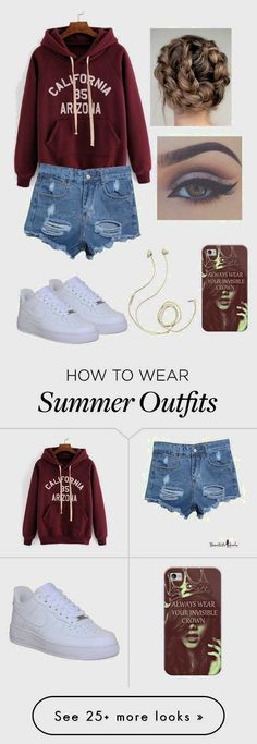 """Casual summer outfit"" featuring moda, NIKE, Molami y Casetify Teen Fashion, Runway Fashion, Fashion Outfits, Womens Fashion, Fashion Trends, Cheap Fashion, Fashion Sites, Fashion 2018, Affordable Fashion"