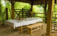 Stunning al fresco dining in the peaceful Wye Valley