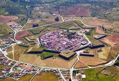 Almeida, Portugal. Star shaped fortress and village near Spanish border.
