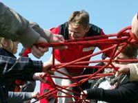 Teambuilding Spiele für Erwachsene: Seilweg