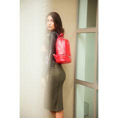 Custom Fabric, Shoulder Straps, Backpack, Dresses For Work, Leather Jacket, Organization, Zipper, Pocket, Logo