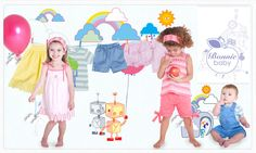 Création d'un visuel pour couffin privé de la vente Bonnie Baby