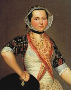 Portrait de jeune fille en costume d'Arles, par Antoine Raspal, en 1779.