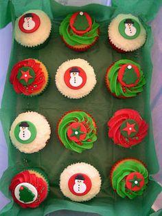 cupcakes para regalar en navidad  #cupcakes #fondant #navidad #christmas