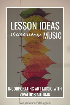 Autumn from Vivaldi's The Four Seasons. It has a free worksheet that would work for a non-music sub too.
