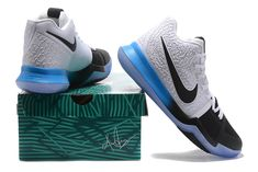 best service b5d83 9e43f 2017 Nike Kyrie 3 PE White Black with Gradient Blue Black For Sale