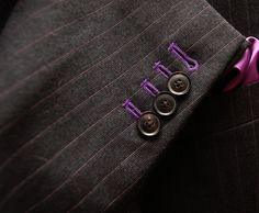grey pinstripe with purple