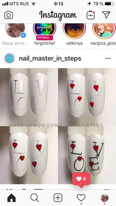 Semi-permanent varnish, false nails, patches: which manicure to choose? - My Nails Diy Valentine's Art, Nail Art Diy, Easy Nail Art, Nail Manicure, Diy Nails, Nail Art Coeur, Nail Techniques, Valentine's Day Nail Designs, Art Designs