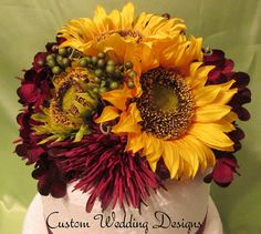 FAll Wedding Cake Topper. Real Touch by Customweddingdesigns, $95.00