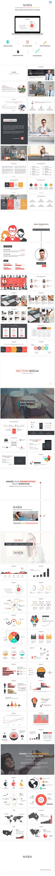 Nixen Keynote Presentation Template #design #slides Download: http://graphicriver.net/item/nixen-keynote-presentation/12334834?ref=ksioks
