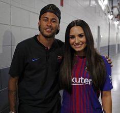Demi Lovato with Neymar