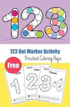 Coloring Activities for Preschoolers Luxury Numbers 123 Count Apples Dot Activity Free Preschool Learning Numbers Preschool, Preschool Color Activities, Preschool Letters, Free Preschool, Kids Learning Activities, Preschool Printables, Preschool Worksheets, Teaching Math, Toddler Activities
